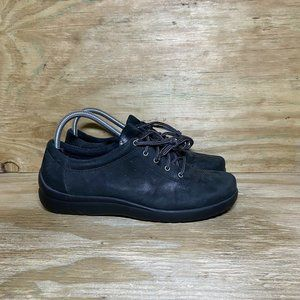 Klogs Lace Up Work Shoes Womens Size 8 M Black Leather Slip Resistant